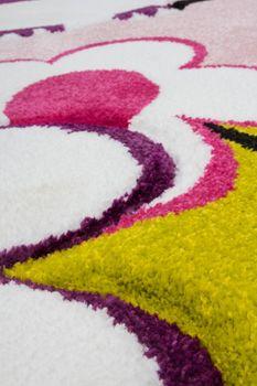 Kids' Rug - Contemporary - Velour - Owls - Pink Magenta Fuchsia White – Bild 5