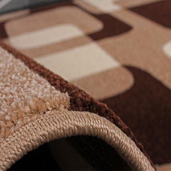 Läuferset Retro Muster Braun
