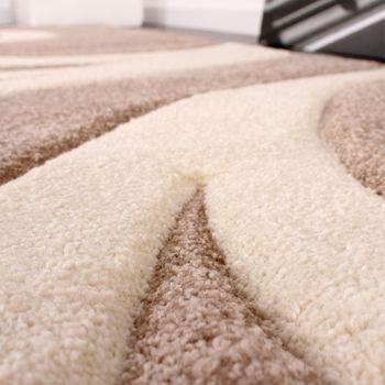 Bettumrandung Läufer Teppich Modern Ranken Muster Beige Creme Läuferset 3 Tlg. – Bild 2