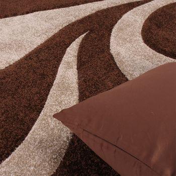 Bettumrandung Läufer Teppich Ranken Muster Barock Braun Beige Läuferset 3 Tlg. – Bild 3