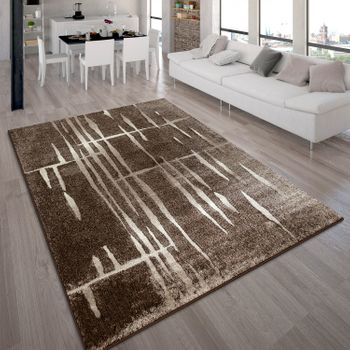 Modern Designer Carpet Brown Creme White Style Top Quality At Top Price