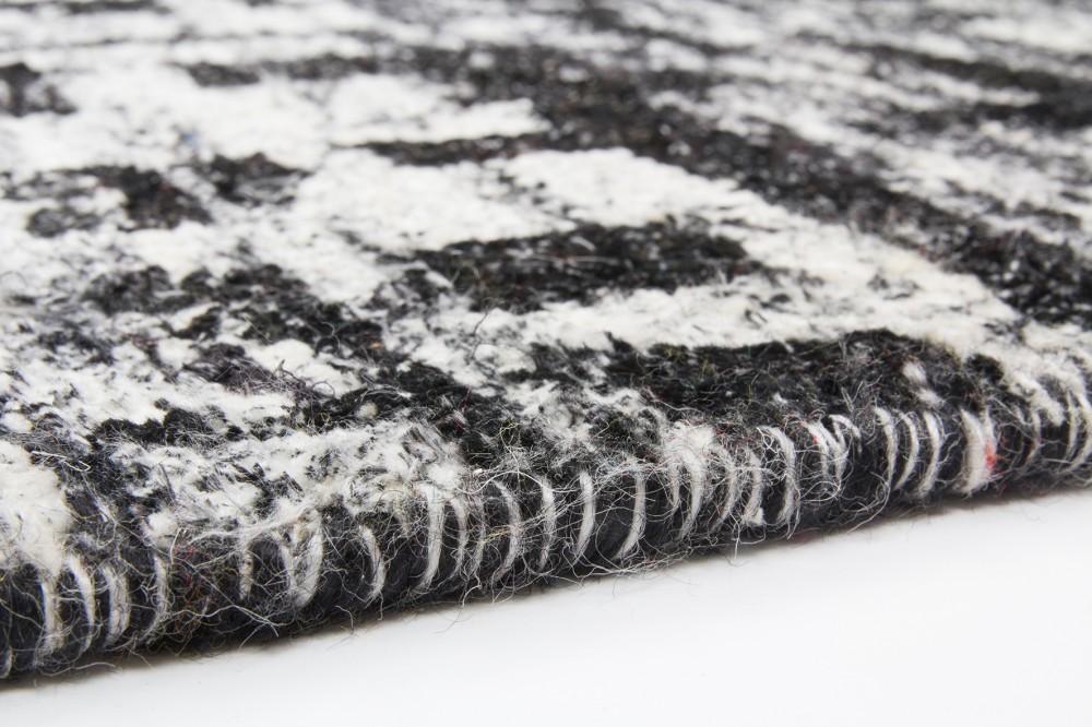 handgewebter sari seide teppich grau teppiche naturfaser teppiche. Black Bedroom Furniture Sets. Home Design Ideas