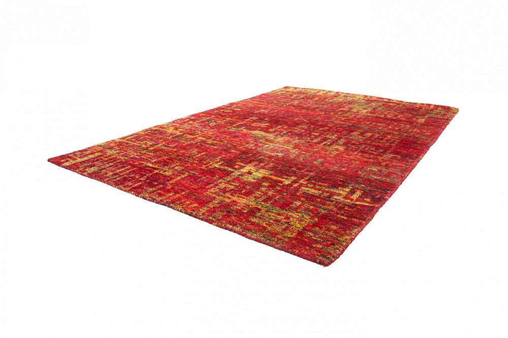handgewebter sari seide teppich rot teppiche naturfaser teppiche. Black Bedroom Furniture Sets. Home Design Ideas