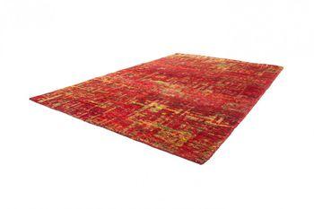 Hand Woven Rug - Sari - Pure Silk - Red – Bild 2