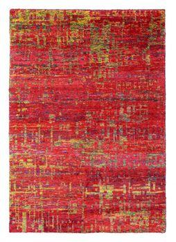 Met de hand geweven sarizijde tapijt rood