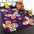 Kinder Teppich Butterfly Lila 001