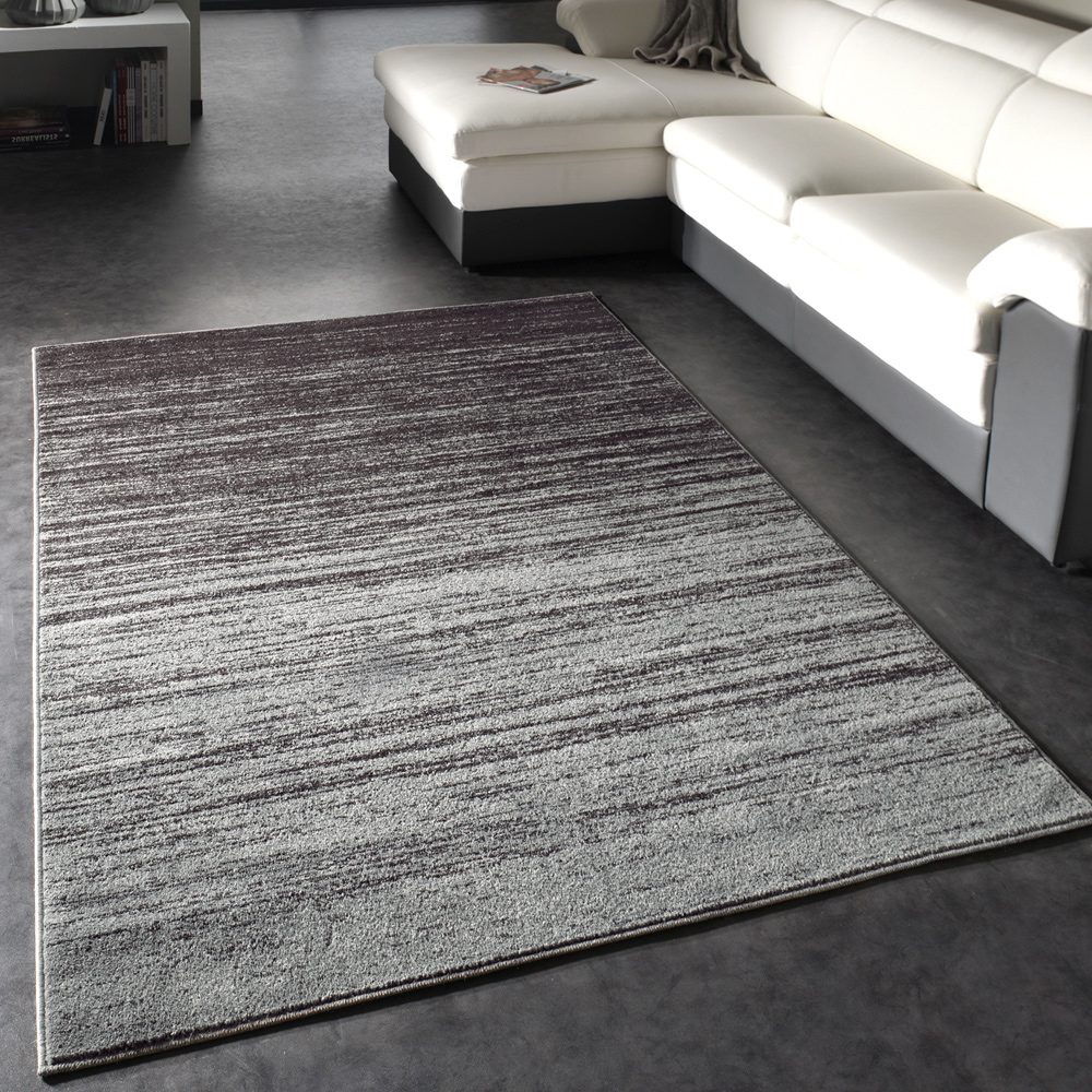 Modern Designer Carpet Short-Pile Carpet With Colour Gradient Grey Brown