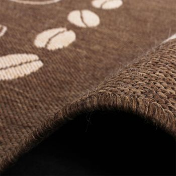 Carpet Modern Flat Weave Sisal Look Kitchen Carpet Coffee Brown Beige Tones – Bild 4
