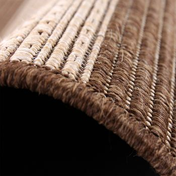 Carpet Modern Flat Weave Stripes Sisal Look Designer Carpet Beige Cream – Bild 4