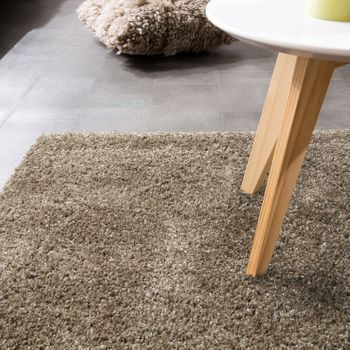 Shaggy Deep-pile Long-pile XXL Rug Super Shaggy Uni Beige Cream Mottled Matt – Bild 3