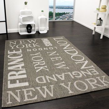 Carpet Modern City Sisal Designer Carpet in Grey
