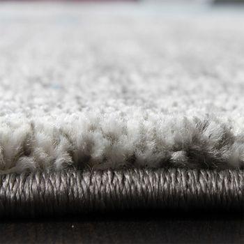 Teppich Modern Designer Teppich Leinwand Optik Grau Schwarz Weiss Meliert – Bild 4