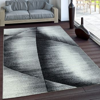 Geometric Rug - Mottled Grey Black