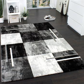 Teppich Marmor Optik Grau