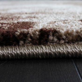 Teppich Modern Designer Teppich Leinwand Optik Meliert Braun Beige Creme Meliert – Bild 4
