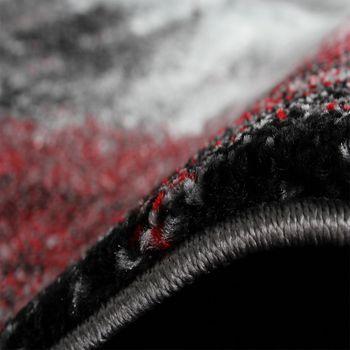 Teppich Modern Designer Teppich Leinwand Optik Meliert Schattiert Grau Rot Creme – Bild 4