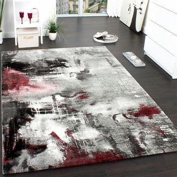 Short Pile Rug  Canvas Red