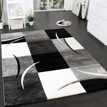 Designer Rug - Geometric - Black White