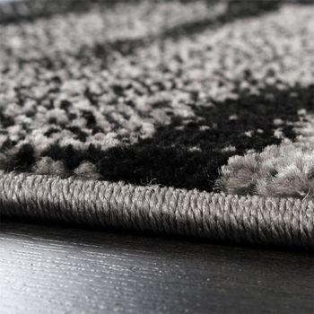 Designer Teppich Modern Trendiger Kurzflor Teppich Karo Muster Farbverlauf Grau – Bild 4