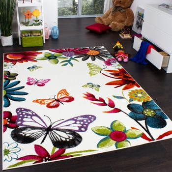Kids' Rug Butterfly Cream