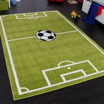 Kids' Rug - Play Carpet - Football Pitch - Green – Bild 1