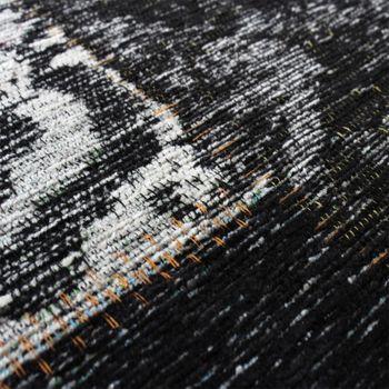 Vintage Teppich -Antik- Trendiger Patchwork Stil Designer Teppich in Grau – Bild 5