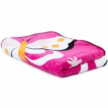 Blankets Children's Butterflies Cuddle Colourful Butterfly Bedding In Pink – Bild 4