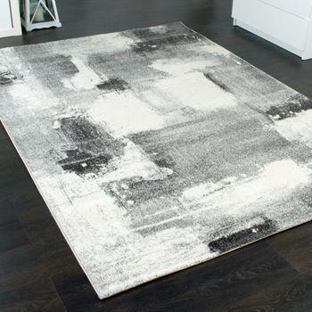 Teppich Velours Kurzflor - Winchester - Designer-Teppich Modern Schattiert Grau – Bild 2