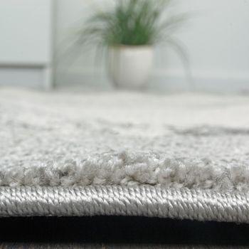 Teppich Velours Kurzflor - Winchester - Designer-Teppich Modern Schattiert Grau – Bild 3
