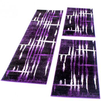 Runner Set Retro Pattern Purple
