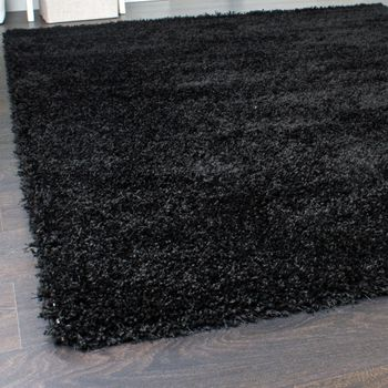 Shaggy Carpet High Pile Long Pile High Quality Yet Affordable In Black – Bild 2