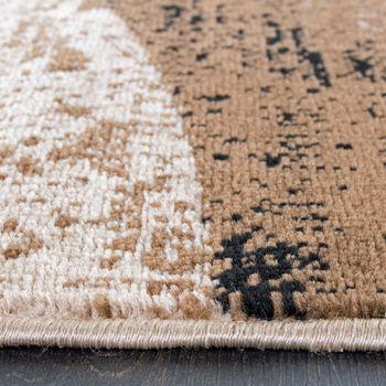 Teppich Modern Trendige Melierung Wellen Muster Braun Beige Preishammer – Bild 3