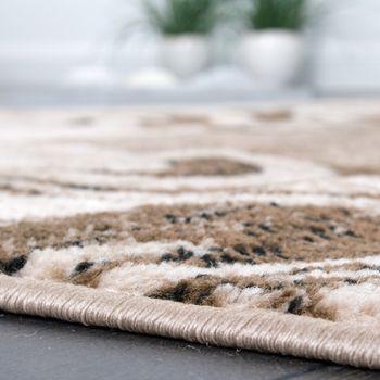 Designerteppich für Wohnzimmer Inneneinrichtung Teppich Meliert Beige Braun – Bild 4
