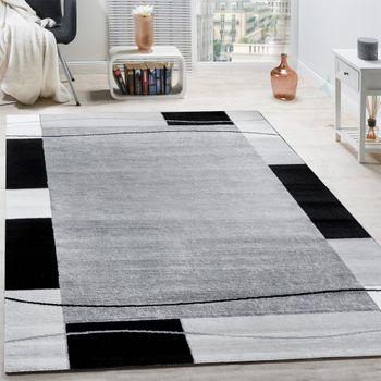 Designerteppich Bordüre Grau