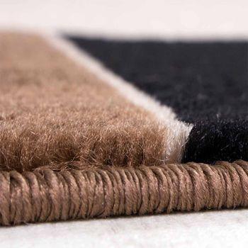 Designer Teppich Wohnzimmer Teppich Modern Bordüre in Braun Beige Preishammer – Bild 2