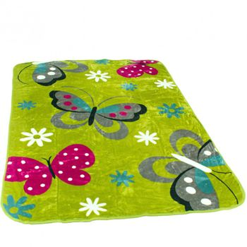 Blankets Children's Butterflies Cuddle Colourful Butterfly Bedding In Green – Bild 1