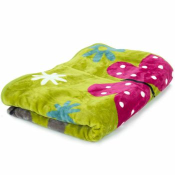 Blankets Children's Butterflies Cuddle Colourful Butterfly Bedding In Green – Bild 2