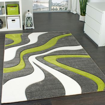 Designer Carpet Contour Cut Green