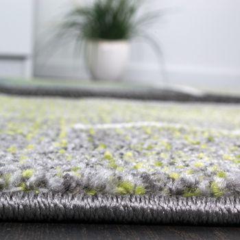 Designer Teppich Kariert Modern Trendig Meliert Eyecatcher in Grau Türkis Grün – Bild 3