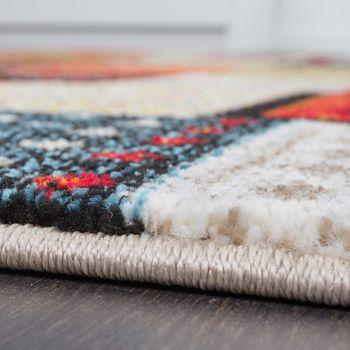 Designer Teppiche Modern Loribaft Nomaden Teppich Terra Rot Grün Multicolour – Bild 4
