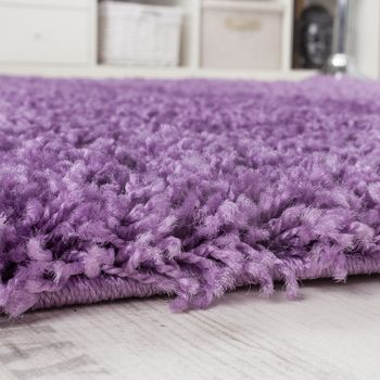 Shaggy High-Pile Rug Purple Clearance Sale Great Price – Bild 2