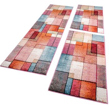 Runner Rug 3 Part Set In Pink