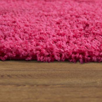 Bettumrandung Läufer Shaggy Hochflor Langflor Teppich in Pink Läuferset 3Tlg. – Bild 3