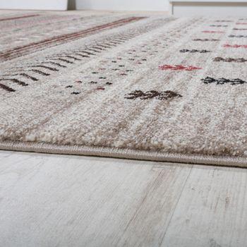 Designer Teppich Modern Loribaft Klassisch Nomaden Teppich Kurzflor Beige Creme – Bild 2