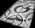 Läuferset Teppich Gestreift Grau Schwarz Creme 001