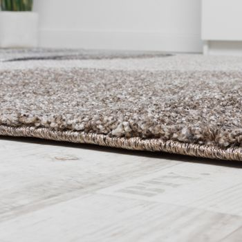 Woven Carpet Modern High Quality With Wave Look Mottled In Grey Beige Cream – Bild 2