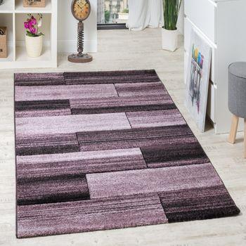 Designer Teppich Hochwertig Modern Rechteck Muster Meliert Fliedertöne Purple – Bild 1