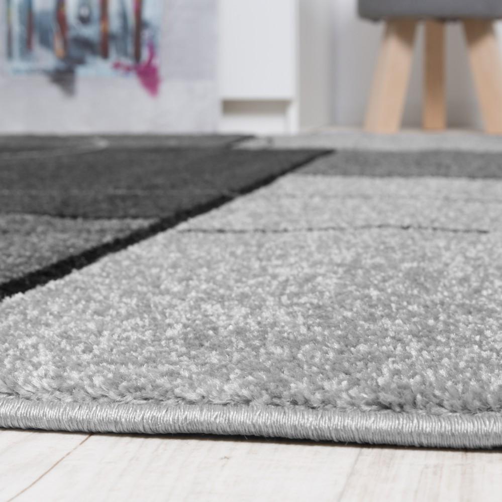 Designer Carpet Checkered Pattern Anthracite Rug24