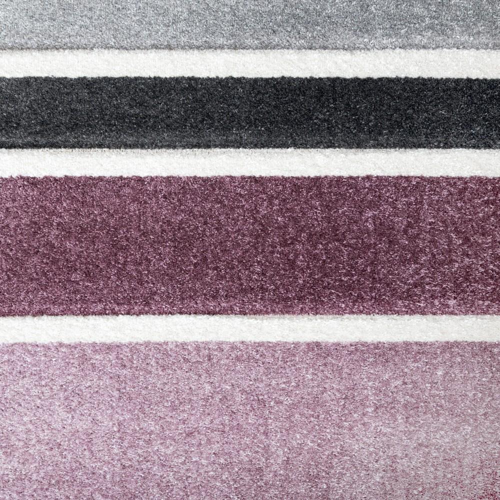 designer teppich hochwertig modern linien muster meliert zeitlos graustufen lila grau teppiche. Black Bedroom Furniture Sets. Home Design Ideas