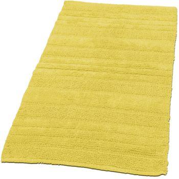 Badmat badkamermat eenkleurig badtapijt katoen badkamertapijt geel